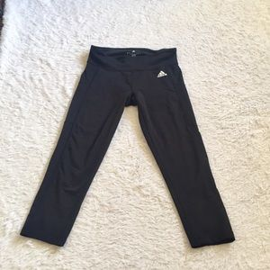 Adidas black midi leggings